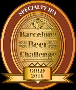 Medalla de Oro en el Barcelona Beer Challenge 2016 BBP Coastal Eddie Black IPA
