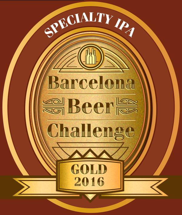 Gold medal @ Barcelona Beer Challenge 2016 BBP Coastal Eddie Black IPA